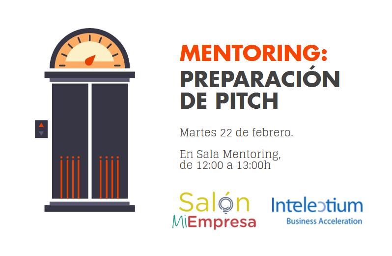 Intelectium y Salón Mi Empresa mentoring sobre elevator pitch