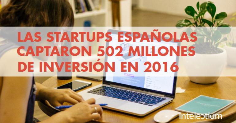 Las Startups españolas captaron 502 millones de inversión en 2016