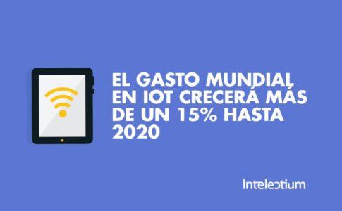 El gasto mundial en IoT crecerá más de un 15% hasta 2020