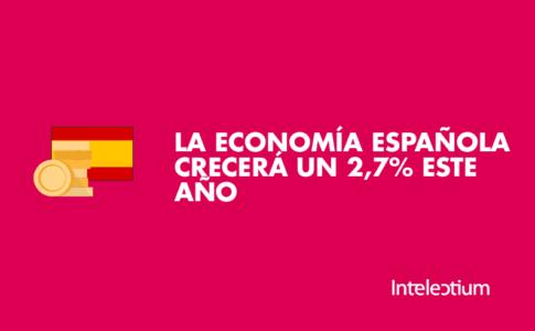 La economía española crecerá un 2,7% en 2018