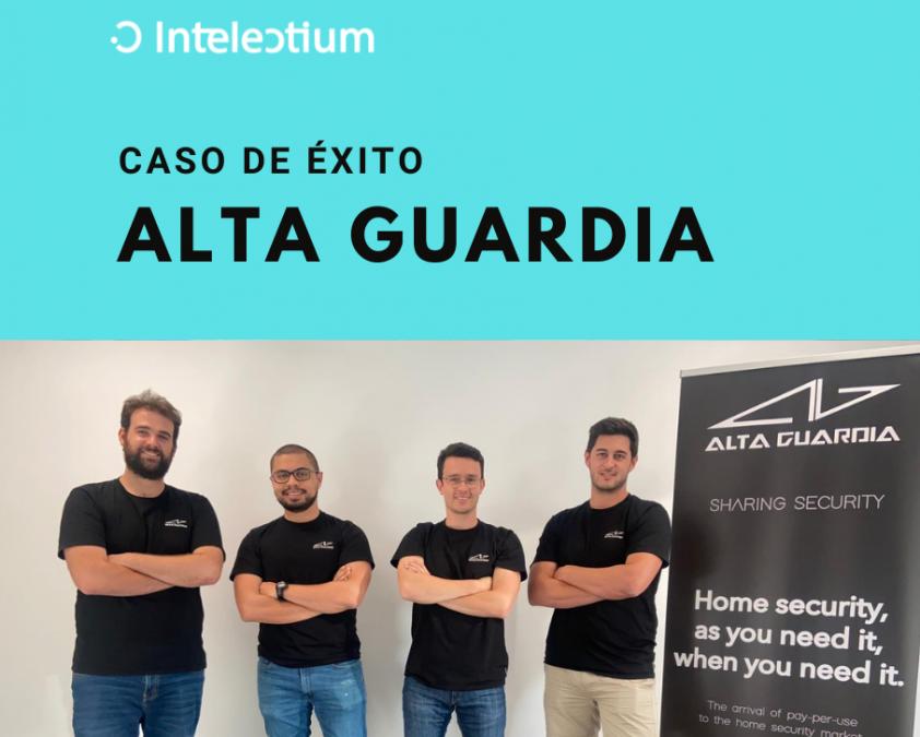 Caso de éxito Intelectium: Alta Guardia consigue un préstamoo ENISA Jóvenes Emprendedores por valor de 67.000 €.